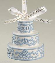 WEDGWOOD JASPER WEDDING CAKE WHITE/BLUE FIRST CHRISTMAS TOGETHER  NIB - $33.24