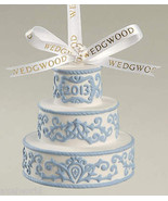 WEDGWOOD JASPER WEDDING CAKE WHITE/BLUE FIRST CHRISTMAS TOGETHER  NIB - $33.24