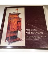 1978 Art Deco & Art Nouveau Sotheby Parke Bernet Auction Catalog Prices ... - $40.00