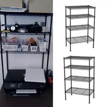 Metal Shelf Rack Storage Organizer Garage Office Wire Shelving Holder 4 ... - $49.99