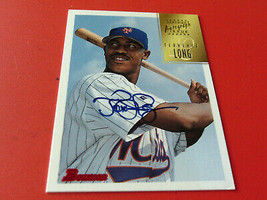 1997  TERRENCE  LONG  ROOKIE  HAND SIGNED  AUTO  BOWMAN  CERTIFIED # CA4... - $19.99