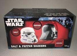 STAR WARS STORMTROOPER DARTH VADER SALT AND PEPPER SHAKER SET NEW IN PAC... - $14.96