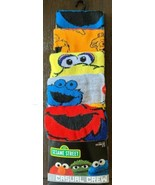 Sesame Street 5 Pk Crew Socks Sz 8-12 Age 14+ Elmo Cookie Big Bird Oscar... - $24.75