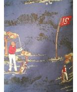Resilio Tie Golf Golfer Golfing Sports Novelty Blue Silk Mens Necktie - $3.50