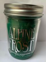 Bath Body Works Home ALPINE FROST Mason Jar Candle 6oz Burns 30-40 Hours... - $19.75