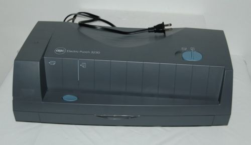 GBC 3230 Electric Hole Punch 2 Legal 3 Standard Holes Characoal