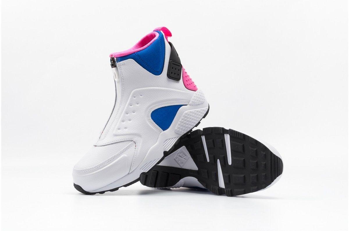 reputable site b2c8b d8aef NIKE AIR HUARACHE RUN MID 807313-100 White Black Soar Pink Pow Womens Size  11
