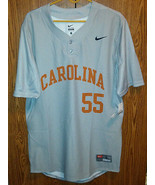 Nike North Carolina Tar Heels Baseball Jersey #55 Gray Large - $39.60