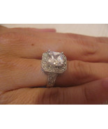 """SILVER TONE CUBIC ZIRCONIA RING-SIZE 6??-5/8"""" I... - $28.31"""