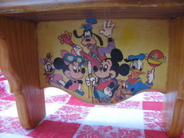 SHELF HANDMADE FOR CHILD'S ROOM WITH DISNEY CHARACTERS PAINTED ON IT - $4.94