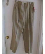 VTG SEARS CARRIAGE COURT MISSES SPORTSWEAR CLASSIC FASHION PANT BLK-BEIG... - $10.00