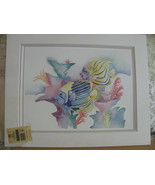 1991 WATER COLOR PRINT LESLIE LANE SIGNEDTWO MA... - $9.90