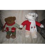 VTG HALLMARK CHRISTMAS BEAR RED SHIRT-PLAYJINGLE BELLS-MITTON 1- 4 SALE ... - $9.99
