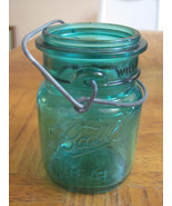 VINTAGE PINT BLUE BALL JAR-EAGLE-IDEAL-CANNING-... - $9.90
