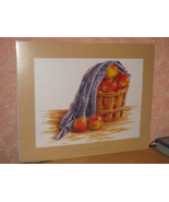 "AUDREY ASCENZO SIGNED 1997 PRINT ""EMPIRES COUNTRY""APPLES-BASKET-BLANKET1... - $9.99"