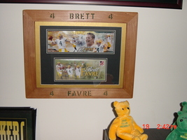 Brett Favre first day picture and cover in frame - $105.00