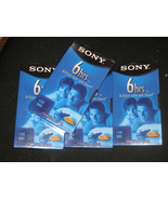 FOUR SONY 6 HRS. EP STANDARD GRADE VHS TAPES T-... - $8.99