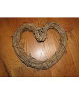 "Vtg 13"" GRAPEVINE HEART WREATH-CHRISTMAS-CRAFTS... - $5.00"