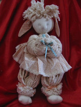 EASTER BUNNIE RABBITT MOP DOLL COLORED EGGS BUT... - $10.00