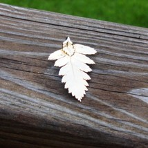 Real fern leaf dipped in 24k yellow gold pendant5 thumb200