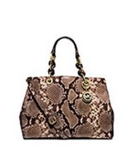 NWT Michael Kors Handbag Cynthia Medium Python ... - $349.99