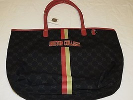 Boston College Canvas Tote book travel Bag Purse by Sara. NCAA Licensed key - $43.55
