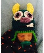 Infant crochet monster hat - $12.00