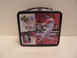1999 UPPER DECK MARK MCGWIRE TRIBUTE METAL  LUNCH BOX  - $8.59