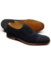 Handmade mens fashion Navy oxford suede leather shoes, Mens formal suede... - $159.99