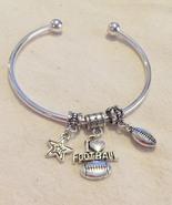 I Love Football Cuff Charm Bracelet  - $18.99