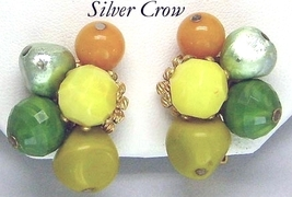 Vintage Hattie Carnegie Cluster Earrings - $18.99