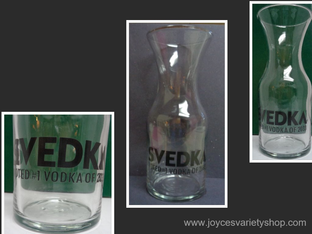 Svedka vodka decanter collage