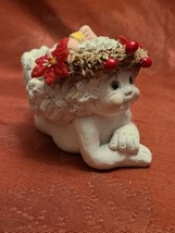 "Dreamsicles 1994 Cherub Candle Holder Figurine Collectable  3"" x 4 1/2"" x 2 1/2"" image 2"
