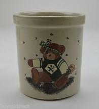 """R.R.P. Co. Stoneware One Quart High Jar Crock Teddy Bear Pattern 5.25"""" T... - $24.99"""