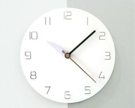 Moro Design 3 Color Hands Wall Clock non Ticking Silent Clock (Classic Purple) image 2