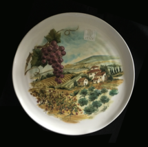 Ceramica Cuore Plate Vineyard 9 1/2 inches Made in Italy NEW with sticker - $9.00