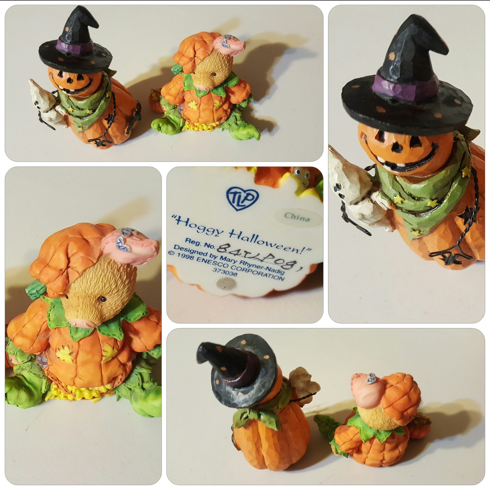 Halloween Enesco Knicknacks, Pumpkins and Pig, free shipping