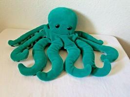 "Folkmanis Octopus Hand Puppet Teal Green Glove 11"" Plush Stuffed Animal Ocean  - $19.78"