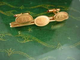 Krementz cufflinks SCOTLAND jeweled ends vintage INITIAL MEY personalize... - $175.00