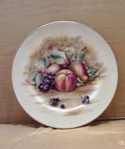 Vintage Ansley Bone China Orchard Gold Small Decorative Plate // Fruit Design - $7.50