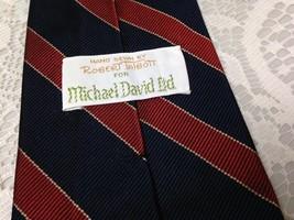 Robert Talbott for Michael Davit Ltd, Blue and Red Stripes Silk Neck Tie - $11.35