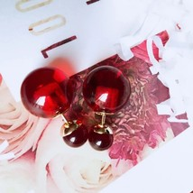 Authentic Christian Dior Mise En Dior Ruby Red Saphire Tribal Pearl Earrings