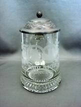 Paulander Munich Clear Glass Stein Beer Mug with Pewter Lid - $6.99