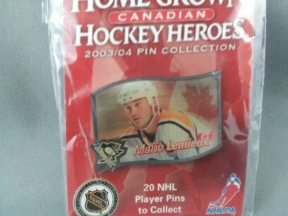 Home Grown Heros Hockey Pin - Mario Lemieux (Pittsburgh Penguins) - Rare !!