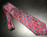 Tie j garcia untitled dark red background with abstract accent boxes of blues 04 thumb155 crop