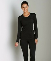 Under Armour HeatGear Sonic Long Sleeve Top Size Medium Womens Fitted Black - $14.84