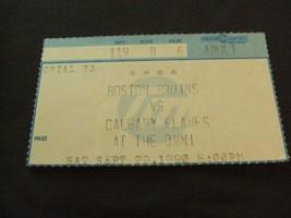 Boston Bruins vs Calgary Flames (9-29-1990) NHL Hockey Ticket Stub  - $3.12