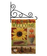 Sunflower Collage Burlap - Impressions Decorative Metal Fansy Wall Brack... - $33.97