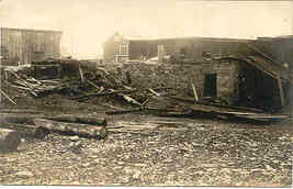 Aftermath of A Fire Real Photo Vintage 1904 to1920 Post Card - $7.00