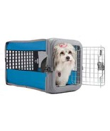 Collapsible Pet Crate Locking Metal Gate Small Dogs Cats Kennel Up to 25... - $58.70 CAD